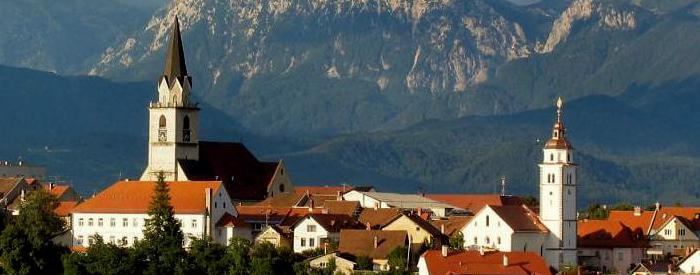 Vožnja do Škofje Loke, mesta, ki je bilo leta 1987 razglašeno za kulturni spomenik.
